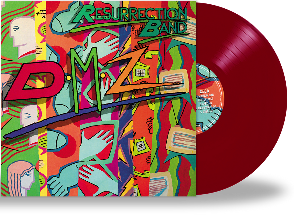 Resurrection Band – DMZ (Limited Run Vinyl) 3 Colors, Gatefold Jacket + Band Poster