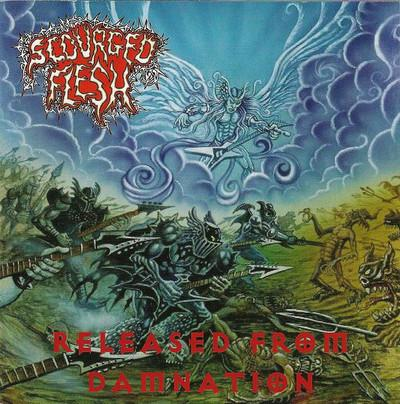 SCOURGED FLESH - RELEASED FROM DAMNATION (CD, 2006, Rowe) - Christian Rock, Christian Metal