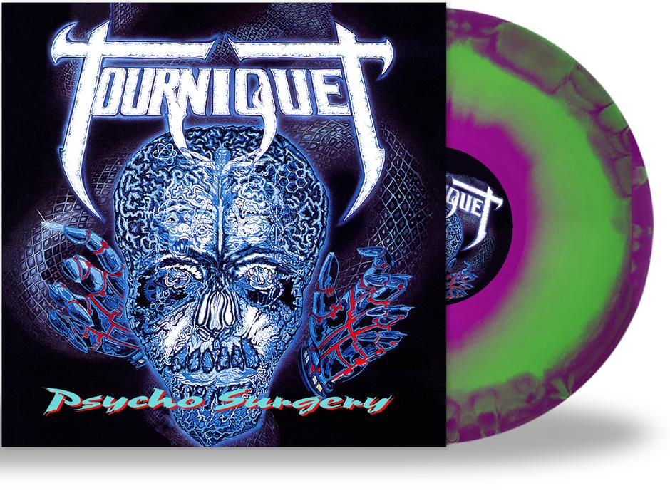 TOURNIQUET - PSYCHO SURGERY (Metal Icon Series) (*NEW-Purple/Green Swirl Vinyl, 2020, Retroactive)