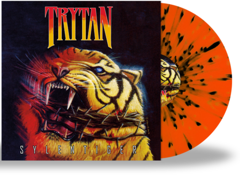 TRYTAN - SYLENTIGER (*NEW-Splatter Color Vinyl, 2020, Retroactive) Limited 200 Units - Christian Rock, Christian Metal