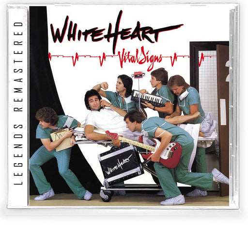 WHITE HEART - VITAL SIGNS + 1 Bonus + Trading Card (*NEW-CD, 2021, Retroactive Records) Featuring David & Dann Huff of Giant