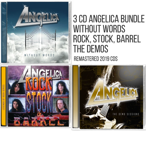 Angelica 3 CD Bundle (Without Words, Rock, Stock and Barrel, and Demo Sessions) - Christian Rock, Christian Metal