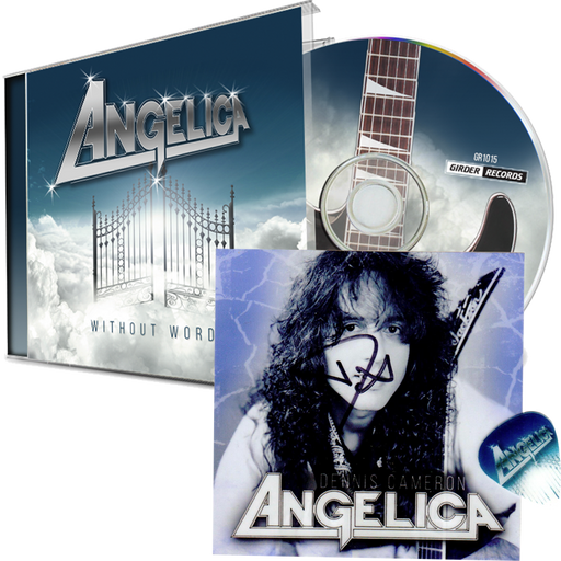Angelica - Without Words AUTOGRAPHED STICKER + PICK