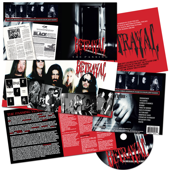 Betrayal - The Passing (CD) Remastered - 2019 Girder Records w/bonuses - Christian Rock, Christian Metal