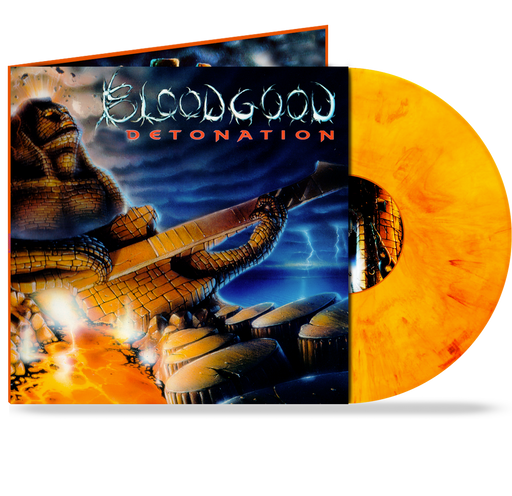 "BLOODGOOD - DETONATION (LAVA-FIRE-ORANGE VINYL) GATEFOLD w/ 24""x24"" POSTER"