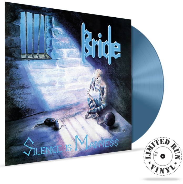 BRIDE - SILENCE IS MADNESS + 1 bonus track (Limited Run Vinyl) (*NEW, 180 Gram Grey with Blue Swirl Vinyl, 2019, Retroactive) - Christian Rock, Christian Metal