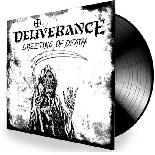 DELIVERANCE - GREETING OF DEATH (Vinyl) 2019 Retroactive Records - Christian Rock, Christian Metal