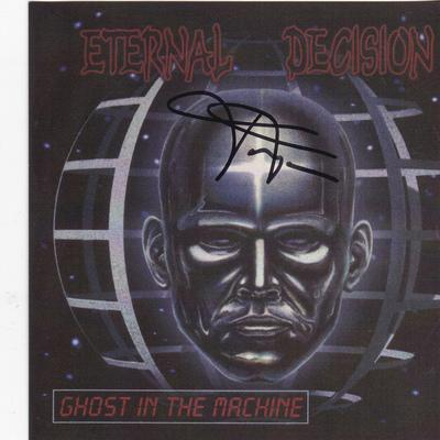 ETERNAL DECISION - GHOST IN THE MACHINE (*NEW-CD *AUTOGRAPHED, 1999, Godfather Records) (BAND AUTHORIZED CD-R) - Christian Rock, Christian Metal