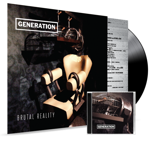 GENERATION - BRUTAL REALITY (180 GRAM VINYL) VINYL + CD BUNDLE - Christian Rock, Christian Metal
