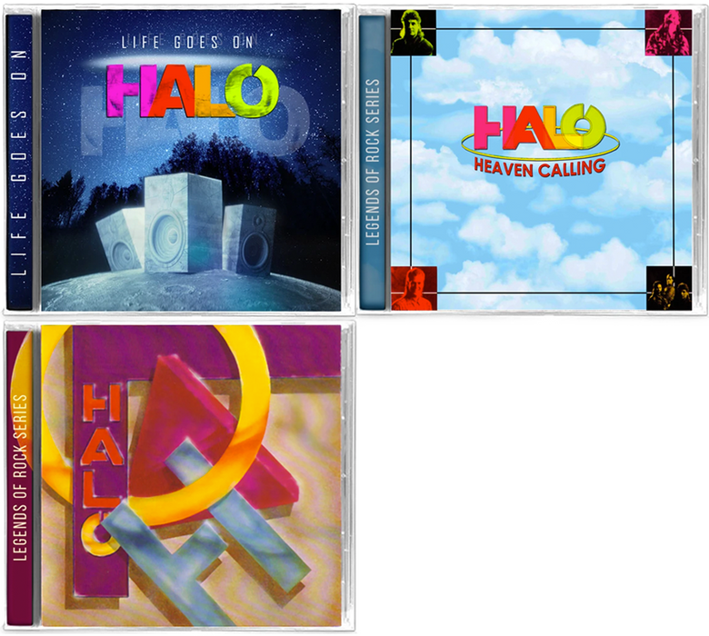 Halo - Heaven Calling, Life Goes On, Jesus Music (3 CD Bundle) - Christian Rock, Christian Metal