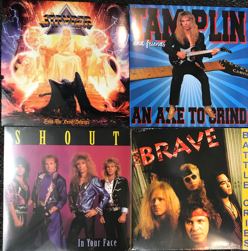 Hair Metal Vinyl Bundle #1 Stryper, Ken Tamplin, Shout, Brave