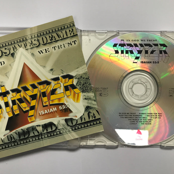 STRYPER IN GOD WE TRUST (CD) Pre-Owned. ** 1988 ENIGMA RECORDS ORIGINAL!!!! - Christian Rock, Christian Metal