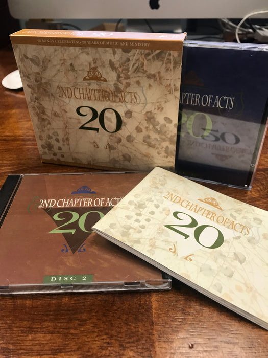 2nd Chapter of Acts 20 BOX SET - 41 Songs (2-Disc) w/60 Page Booklet - Christian Rock, Christian Metal