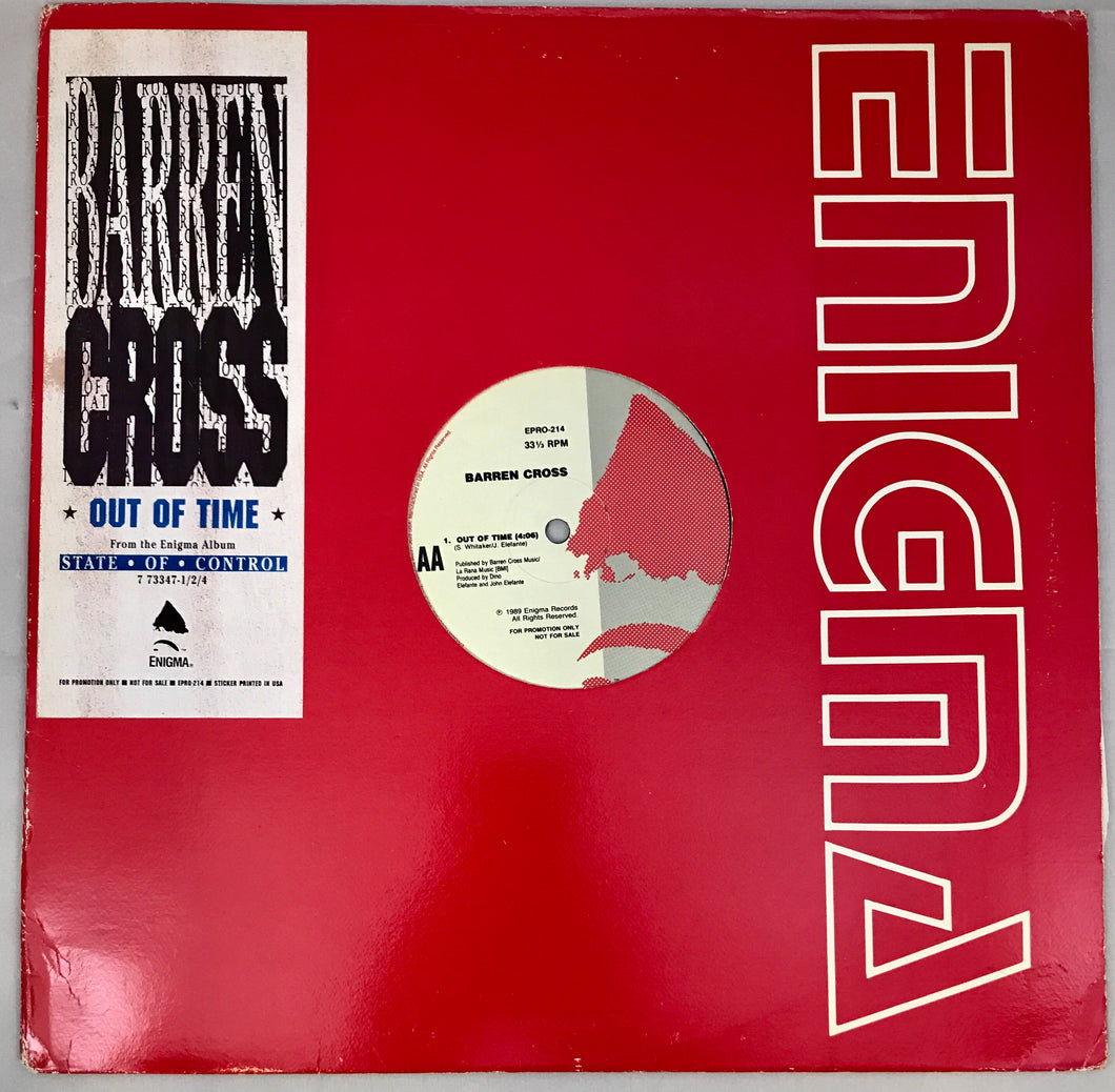 BARREN CROSS OUT OF TIME SINGLE (VINYL) ENIGMA PROMO