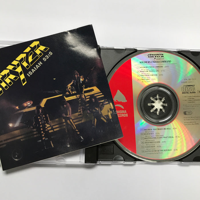 STRYPER - SOLDIERS UNDER COMMAND (CD) Pre-Owned.  1986 ENIGMA RECORDS ORIGINAL!!!! - Christian Rock, Christian Metal