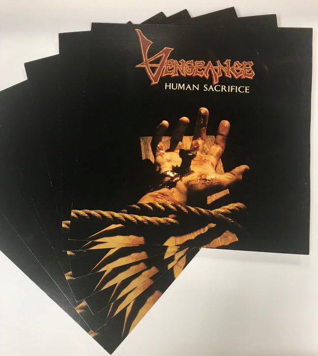 "Vengeance - Human Sacrifice (12""x12"" Wall Flat) - Christian Rock, Christian Metal"