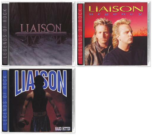Liaison - 3 CD BUNDLE: Liaison, Urgency, Hard Hitter *ARENA ROCK Def Leppard, Allies, Shout, Idle Cure