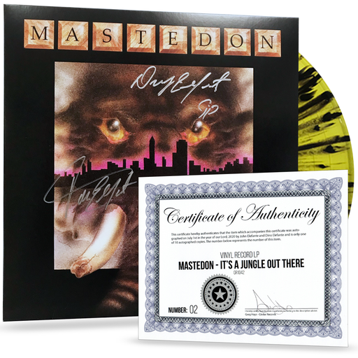 AUTOGRAPHED Mastedon - It's a Jungle Out There (Limited 200 Run Splatter Vinyl)