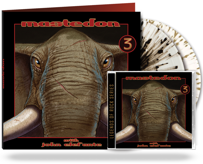 Mastedon - 3 (2xLP Gatefold Double Vinyl Album Clear w/Splatter + CD Bundle) John Elefante & Kerry Livgren of Kansas