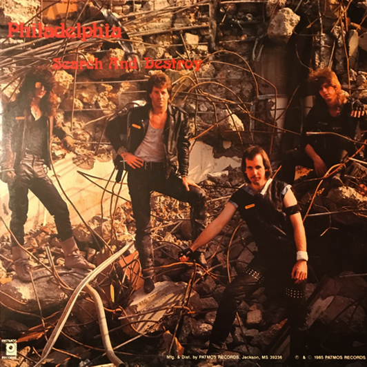 Philadelphia - Search and Destroy (Vinyl) Original Pressing 1985 Patmos - Christian Rock, Christian Metal