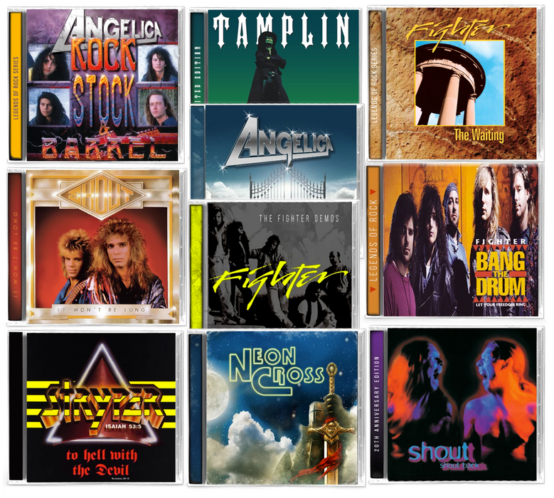 AOR, Rock, Metal 10 CD Bundle - Angelica, Shout, Stryper, Tamplin, Fighter - Christian Rock, Christian Metal