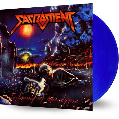 SACRAMENT - TESTIMONY OF APOCALYPSE (BLUE VINYL) - Christian Rock, Christian Metal