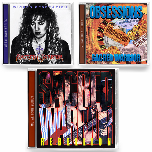 Sacred Warrior - 3 Album Bundle (Rebellion, Obsessions, Wicked Generation) - Christian Rock, Christian Metal