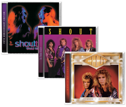 SHOUT (3 NEW-CD BUNDLE) It Won't Be Long, In Your Face, Shout Back - 2019 Girder Records - Christian Rock, Christian Metal