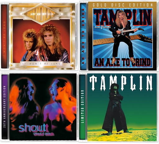Shout Tamplin 4-CD Bundle. Axe To Grind, It Won't Be Long, Shout Back, Tamplin