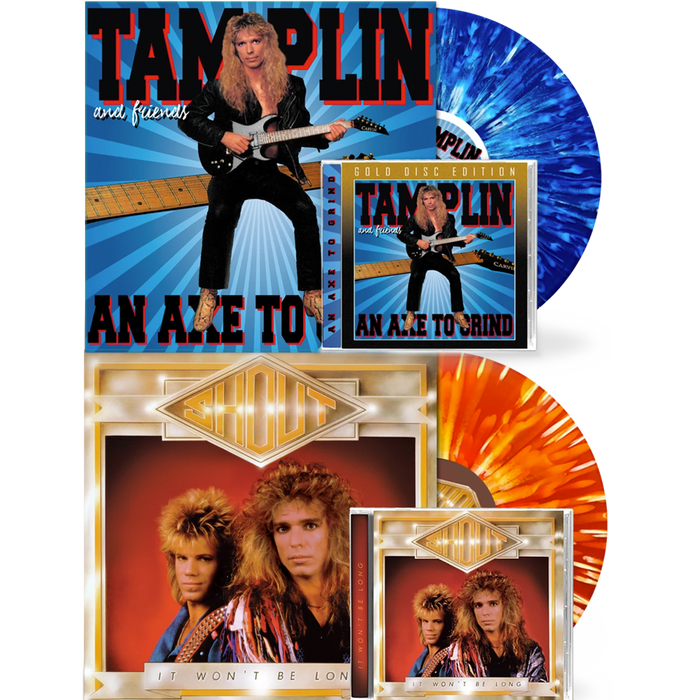 Ken Tamplin - Axe To Grind (Vinyl + CD) / Shout - It Won't Be Long (Vinyl + CD) BUNDLE - Christian Rock, Christian Metal