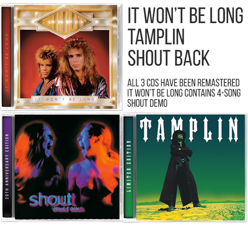 Shout Tamplin 3 CD Bundle - Christian Rock, Christian Metal
