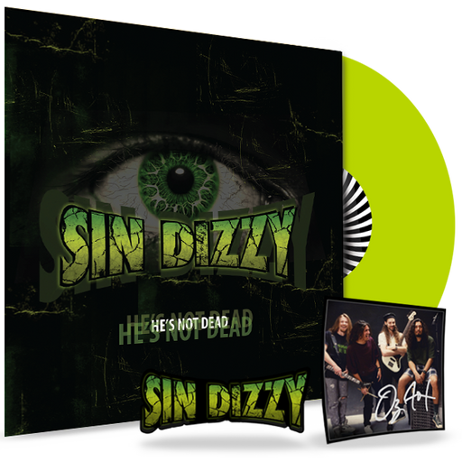 Sin Dizzy Autographed - He's Not Dead (Lime Green Vinyl) w/AUTOGRAPHED CARD