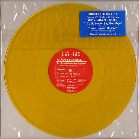 "Randy Stonehill -  I Could Never Say Goodbye 12"" Single (YELLOW VINYL)"