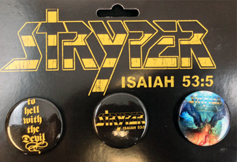 Stryper - Button 3 Pack