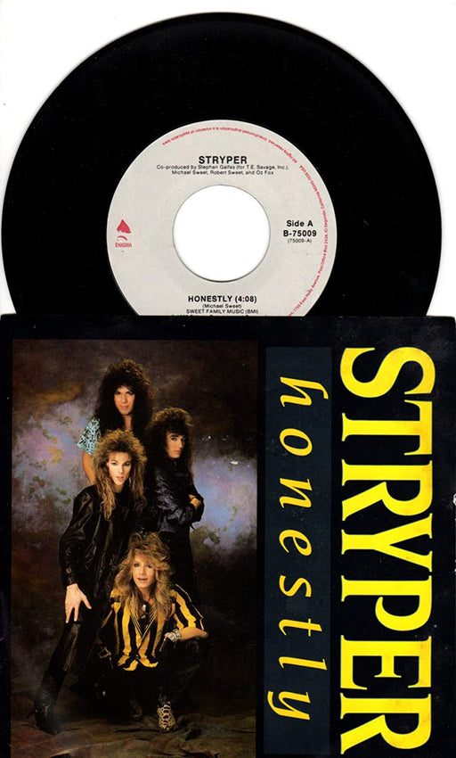 "Stryper - 7"" Single (Honestly/Sing Along Song) Vinyl - Christian Rock, Christian Metal"