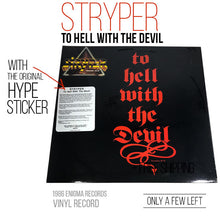 Stryper - To Hell With The Devil (Vinyl) with HYPE STICKER