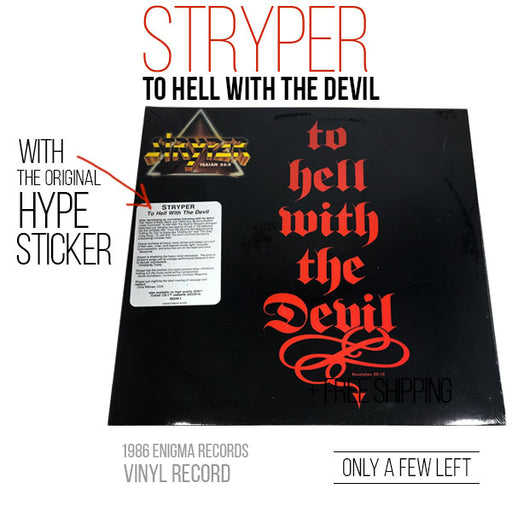 Stryper - To Hell With The Devil (Vinyl) w/Hype Sticker - Christian Rock, Christian Metal