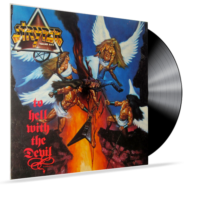 STRYPER - TO HELL WITH THE DEVIL (1986, Vinyl, Enigma) ANGEL ARTWORK PJAS-73237 - Christian Rock, Christian Metal