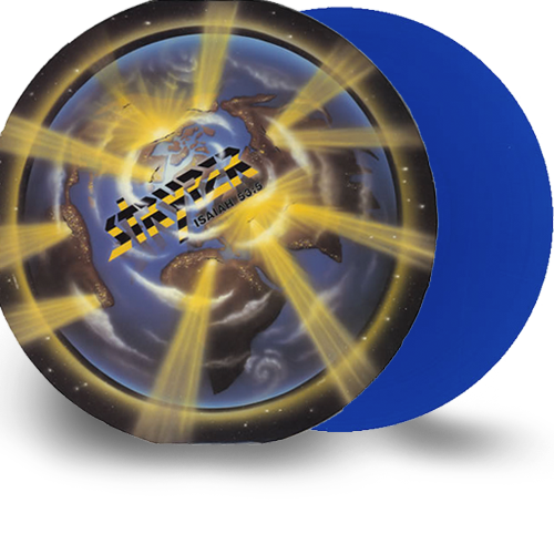 Stryper - Yellow and Black Attack (Blue) Limited Edition Colored Vinyl - Christian Rock, Christian Metal