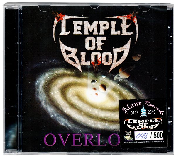 Temple of Blood - Overlord (CD) 2019 REMASTERED + NUMBERED Thrash Metal - Christian Rock, Christian Metal