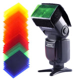 35PCS Universal Photography Speedlite 47x77mm Square Full Color Balance Gel Filter Kit