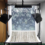 3x5ft Christmas Snowfake Kid Studio Backdrop Photography Photo Background 90x150cm Waterproof For Parties