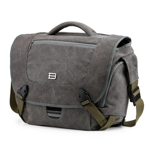"Camera Messenger Shoulder Bag for SLR/DSLR Cameras & 15.6"" Macbook Pro 15.5L. Grey"