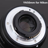 50mm F1.8 Standard Prime Camera Lens 50mm Auto Focus Large Aperture for Nikon D3300 DSLR OR Canon EOS 60D 70D 5D2 5D3