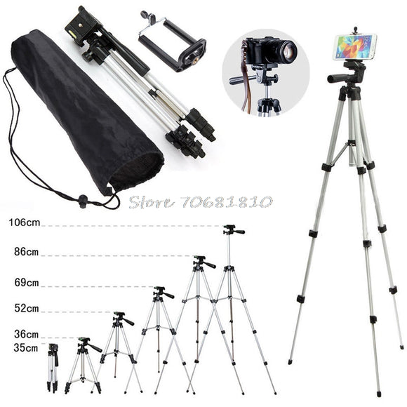 Professional Camera Tripod Stand Holder Mount For DSLR or Smart phone