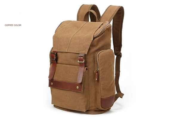 Canvas Backpack with Laptop pocket Vintage Traveling For Canon Nikon