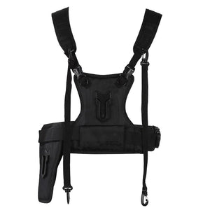 Camera Carrier Photographer Vest with Dual Side Holster Strap Belt for DSLR Camera Small Cameras and DV