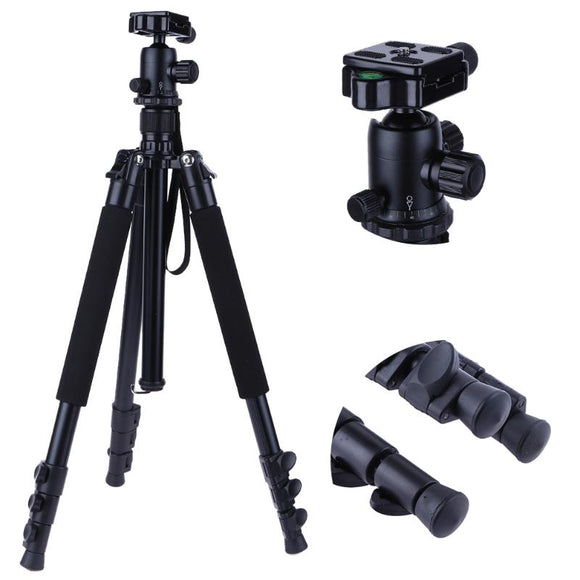 Professional Portable Travel Aluminum Alloy Low Angle Camera Tripod Stand w/ Ball Head for Digital SLR DSLR Camera