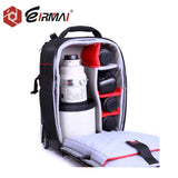 2-in-1 Rolling Camera Backpack Trolley Case - Anti-shock Detachable Padded Compartment, Hidden Pull Bar, Durable