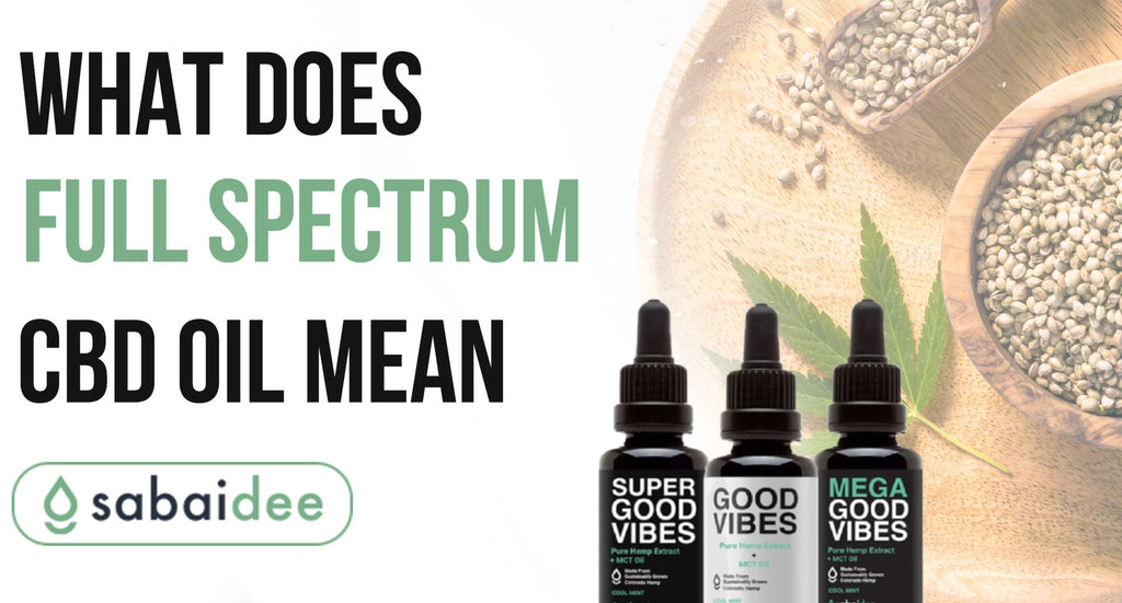 What Does Full Spectrum CBD Oil Mean